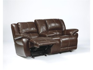 Lenoris Glider Reclining Loveseat with Console Power-1