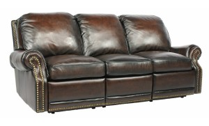 Power Recline BarcaLounger Premier II Electric Reclining Sofa - Stetson Coffee-1