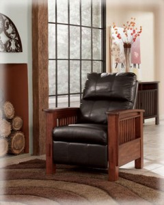 Santa Fe - Chocolate High Leg Recliner-1