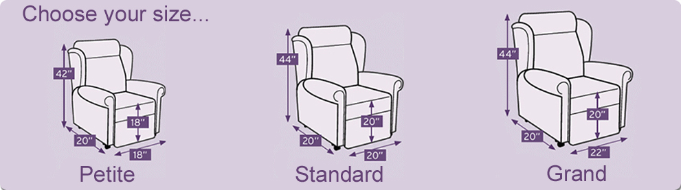 size of recliner