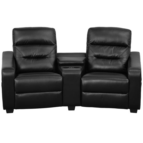 Flash Furniture Futura Series Reclining Leather Theater Seating Unit - Leather Home Cinema Recliner