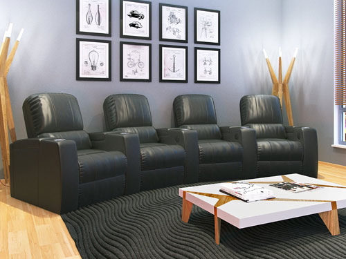 Leather Home Theater Recliners