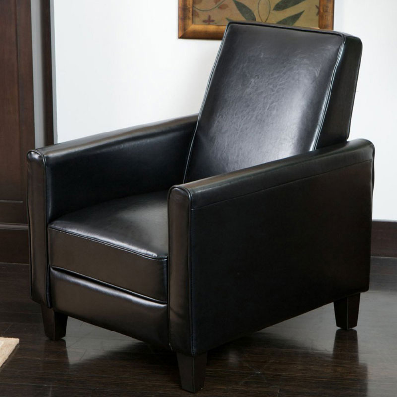 Best Selling Davis Leather Recliner Club Chair : cheap black leather chairs - Cheerinfomania.Com