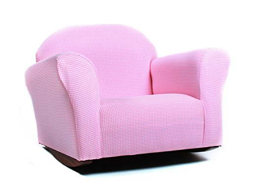 KEET Roundy Rocking Kid's Chair Gingham - Childrens Recliner